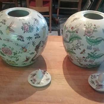 Qing Dynasty Ginger Jar, pair - Pottery