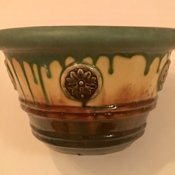 Help Identify JARDINIERE Matte Green and Gloss Blended Glaze - Pottery