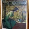 oil on canvas Greenwich Village artist ca. 1949-50