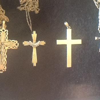 10k 14k Religious Gold Crosses