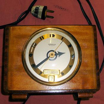 "Hammond Day and Date Calendar Clock, ""Tripoli"", 1938 Case Model 3"