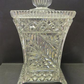 Art Deco Glass Biscuit Jar / Barrel - Art Deco