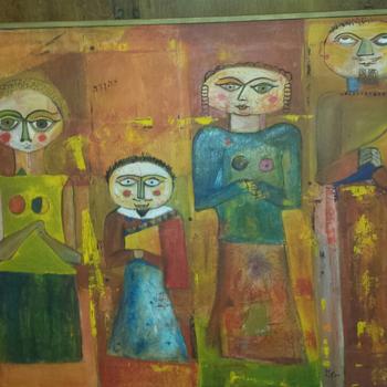 Modern Cubist Painting Help ID artist - Mid-Century Modern