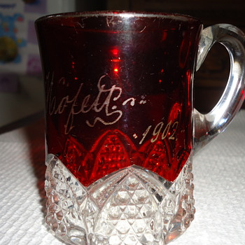 A True Antique...1902 Elizabeth Mofett Cup - Glassware