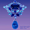 Very Rare Gustave Sherman Blue Drop Pendant Brooch
