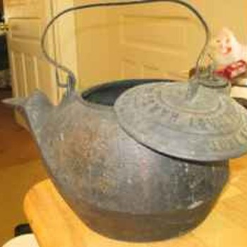 Hare Leaf & Co. Civil War Era Cast Iron Kettle dated June 23rd, 1863 #5 - Kitchen