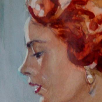 Henry Marcus Moran Watercolor Of a Woman - Fine Art