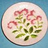 Tutanka Enamel Plate  (# 698394)  Floral Pattern