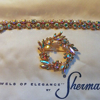 Bracelet and Brooch - Costume Jewelry