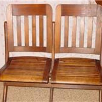 Double Wooden Folding Chair - Furniture