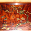 Antique Japanese wood and gold lacquer tray