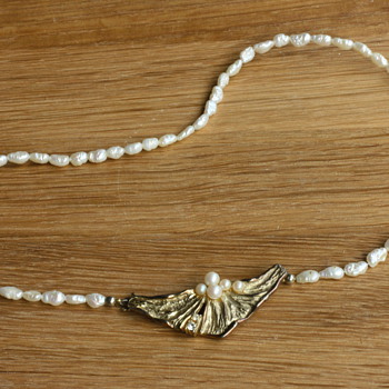 Vermeil and rice pearl necklace - Fine Jewelry