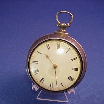 Early American Pair Case Fusee Pocket Watch Clark, Phila. - Pocket Watches
