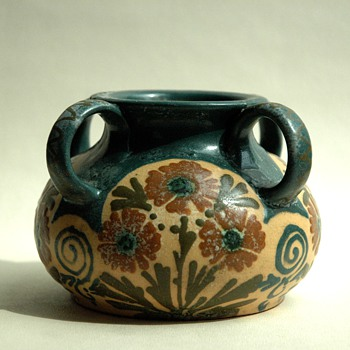 french art nouveau pottery vase by LEON ELCHINGER - Art Nouveau