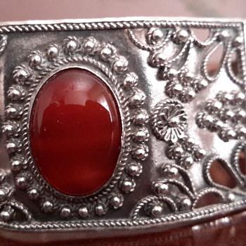 Turkish Byzantine style sterling silver cuff bracelets