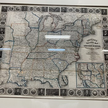 Phelps's National Map of The United State Dated 1852  - Paper