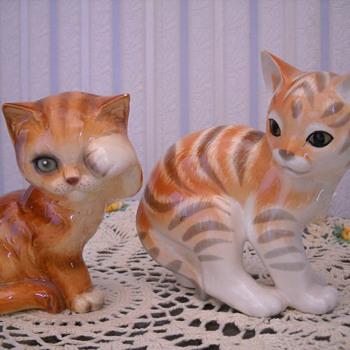 GOEBEL CAT & RUSSIAN CAT FIGURINES - Animals