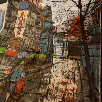 Street in Paris by A. Balero - Fine Art
