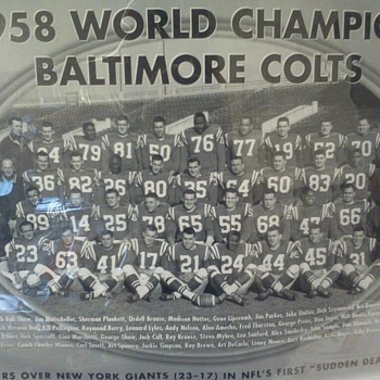 1958 World Champion Baltimore Colts Picture - Football