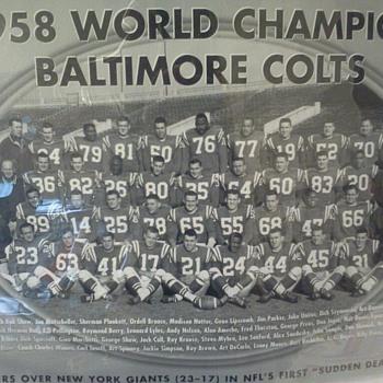 1958 World Champion Baltimore Colts Picture