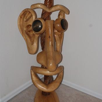 Mr Potato head wood sculpture - Fine Art