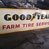 1959 two sided good year farm and tire sign,
