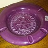 ROTARY INTERNATIONAL purple HAEGER POTTERY ashtray
