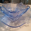 Sapphire electric blue bowl and under plate- art deco need ID