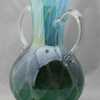 Iridescent Marti Glass vase - Art Glass