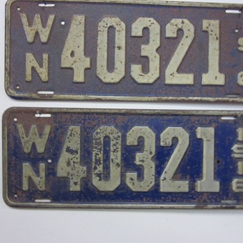 1916 Washington State license plates - Signs