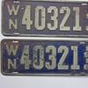 1916 Washington State license plates