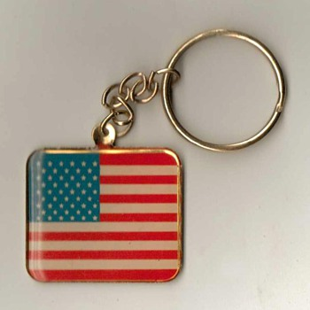 U.S. Flag / V.F.W. Keyfob & Ring - Advertising