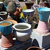 Lots more flower pots and planters plus an amazing pineapple finial