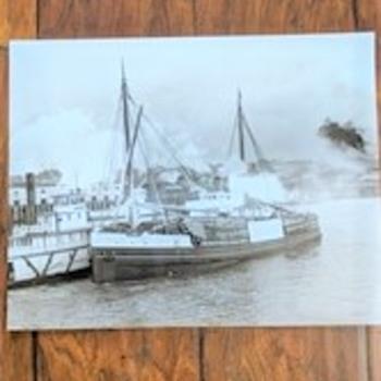 Vintage merchant ships Sterra black and white large photo - Photographs