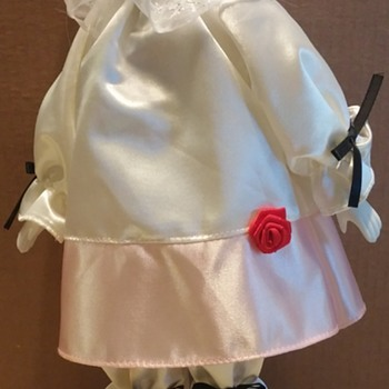"""Unkown Pierrot Clown Doll 15 1/2"""" Tall"""