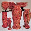 Collection A. Ruckl Peloton Decor Glass 1925-35 - The many shapes and colors.
