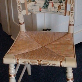 """Hitchcock Christmas Chair """"The Snowman"""" 1992 Limited Edition"""