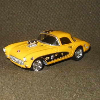 Johnny Lightning 1957 Corvette Gasser From 2000 or so - Model Cars