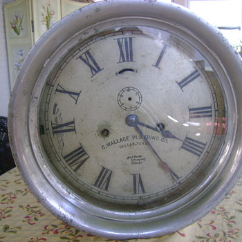 Old  James P. Marsh advertising clock - Clocks