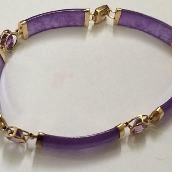 Gold lilac Jade Bracelet - Fine Jewelry