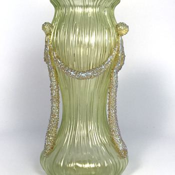 Loetz Yellow Empire Vase. Circa 1905. PN II-2581 - Art Glass