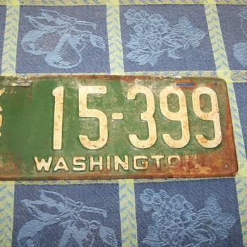 1926 Washington State Auto License Plate