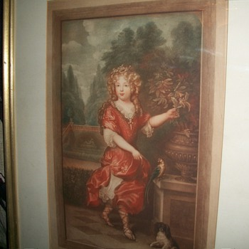 ( the young princess ) by caspar netscher engraved by  s. arlent edwards - Posters and Prints