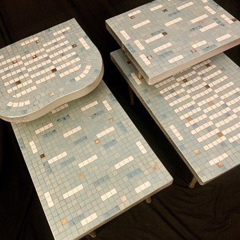 Mid century modern MOSAIC END TABLES  - Furniture