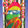 Dirty Dave's 1969 Psychedelic Folk Art Painting on wood - Love Your Fellow Man