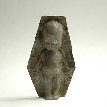 old chocolate mold - child