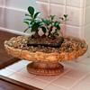 Antique cast stone planters