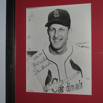 Signed Picture of Stan the Man Musial addressed to Mike..
