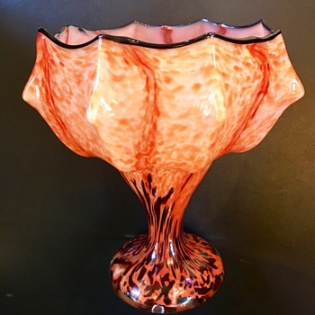 Welz Umbrella vase - new shape - Art Glass
