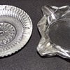 glass ash trays from the 1960s.